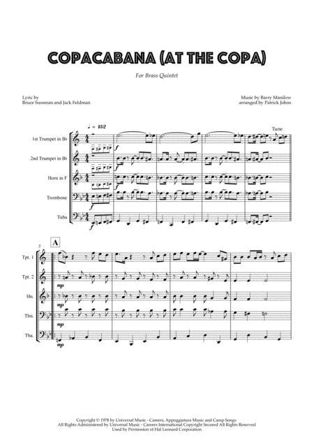 Copacabana (At The Copa) - Brass Quintet
