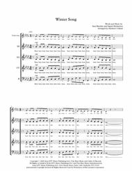 Winter Song - A Cappella SSAATTB plus Soloist