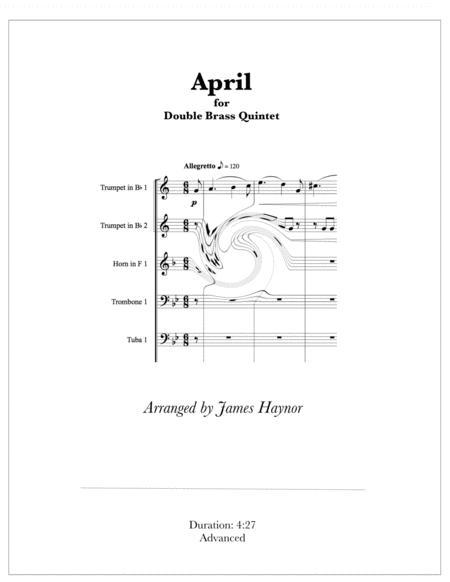 April for Double Brass Quintet