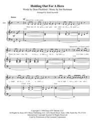Holding Out For A Hero (SATB) by Bonnie Tyler, arranged by Sarah Jaysmith