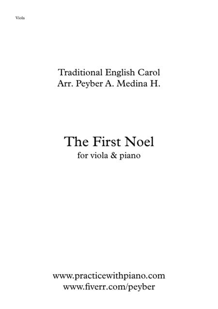 The First Noel, for viola and piano