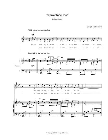 Yellowstone Joan (in E flat) for soprano and piano