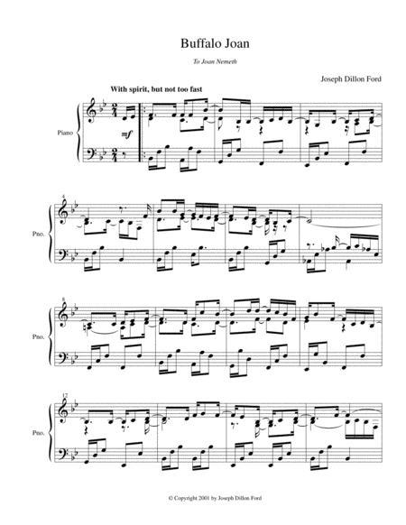 Yellowstone Joan (in B flat) for piano solo