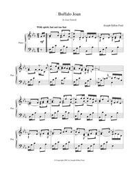 Yellowstone Joan (in E flat) for piano solo