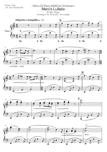 < Short EZ Piano #245 for Christmas > Mary's Lullaby