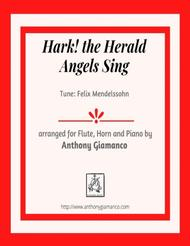 Hark! the Herald Angels Sing (flute, french horn and piano)