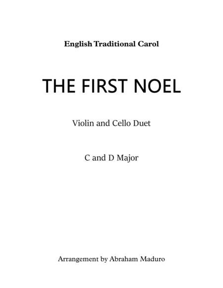 The First Noel Violin Cello Duet-Two Tonalities included