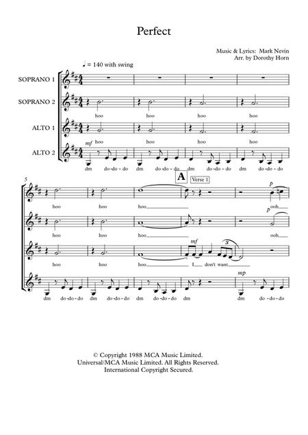 Perfect - SSAA a capella (unaccompanied) women's choir