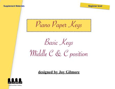 Paper keys to help piano beginners