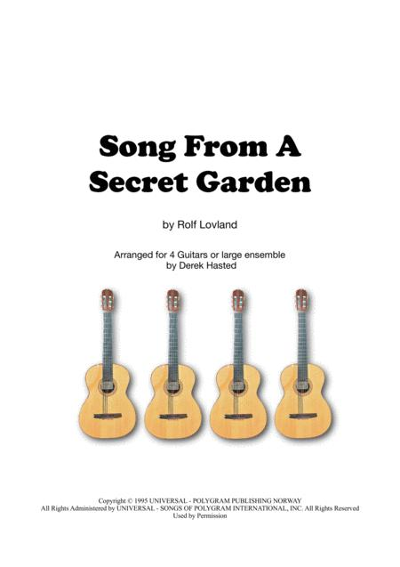 Song From A Secret Garden - guitar quartet/large ensemble