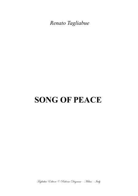SONG OF PEACE - Tagliabue - For SATB Choir and Piano