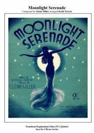 Moonlight Serenade for Bb Trombone Quintet (TC) Jazz for 5 Brass Series