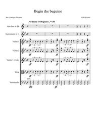 Begin the beguine - Solo instrument and string quartet