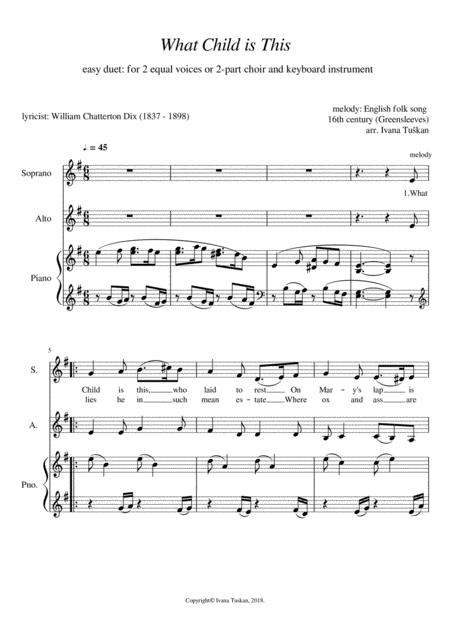 what child is this for sa and piano e minor
