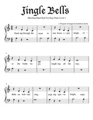 Jingle Bells for Easy Piano Level 1 in Marching Band Style