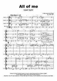All of me - Jazz Classic - Clarinet Quartet