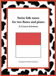 11 Swiss folk tune for two flutes and piano - Bruder lustig-Polka - Canton Solothurn