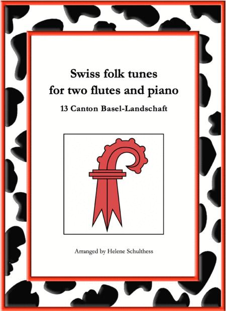13 Swiss folk tune for two flutes and piano - Mazurka - Canton Basel-Landschaft