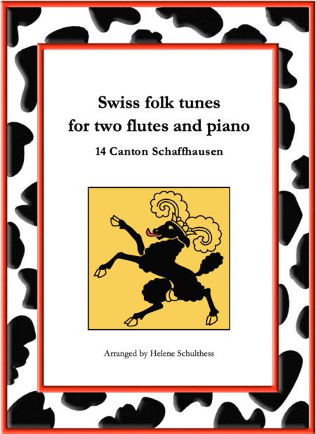 14 Swiss folk tune for two flutes and piano - Polka - Canton Schaffhausen