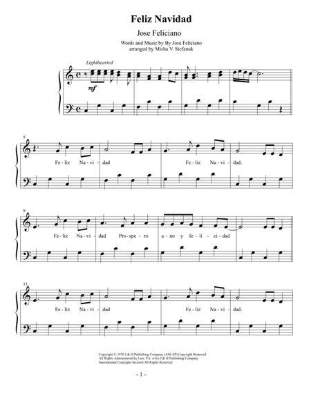 feliz navidad easy piano by jose feliciano digital sheet music for sheet music single download print h0 437785 sc001281588 sheet music plus feliz navidad easy piano