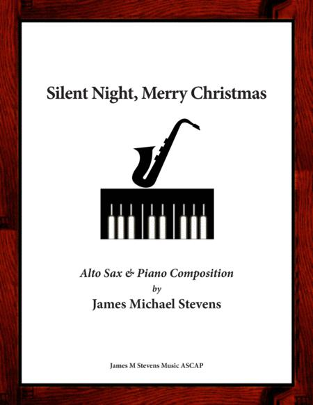 Silent Night, Merry Christmas - Alto Sax & Piano