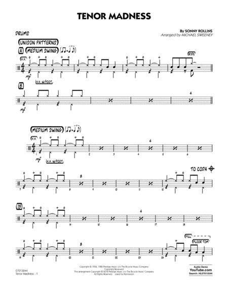 Tenor Madness  (arr. Michael Sweeney) - Drums