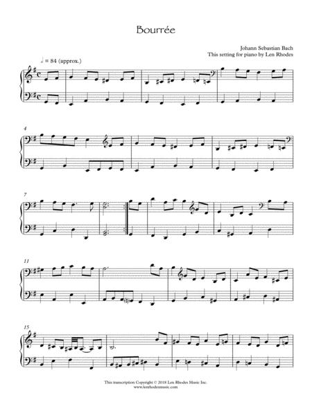J. S. Bach - Bourrée in E minor, for keyboard solo