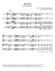 Delicate - String Quartet