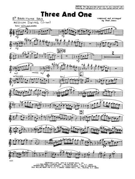 Three And One - Eb Baritone Saxophone