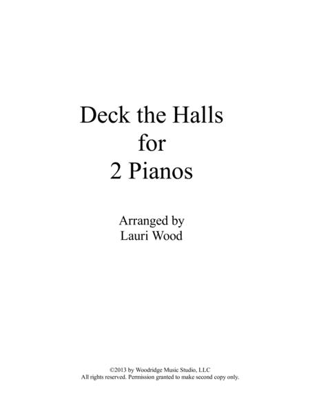 Deck the Halls for 2 Pianos