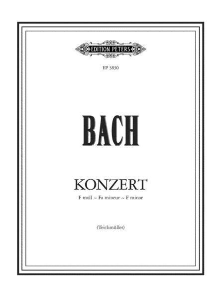 Keyboard Concerto No. 5 in F Minor BWV 1056