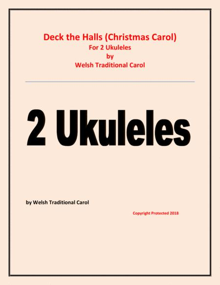 Deck the Halls - Welsh Traditional - Chamber music - String - 2 Ukuleles Easy level