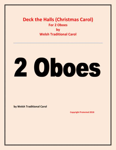 Deck the Halls - Welsh Traditional - Chamber music - Woodwind - 2 Oboes - Easy level
