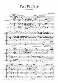 Fest Fanfare - Classical Festive Fanfare - Opener - Low Brass Quartet/Tuba Quartet