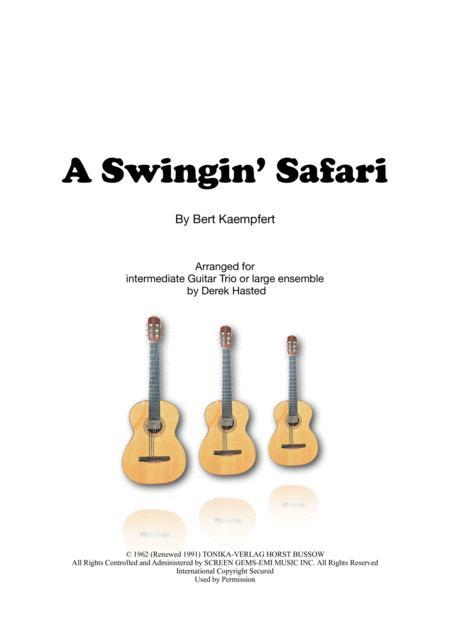 A Swingin' Safari - Guitar Trio or large ensemble