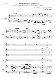 Pergolesi Stabat Mater arrangement of the first movement for SATB choir and piano (or organ)