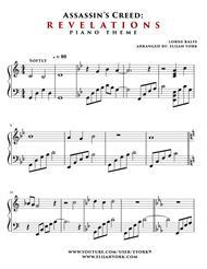 Assassin's Creed Revelations Piano Theme