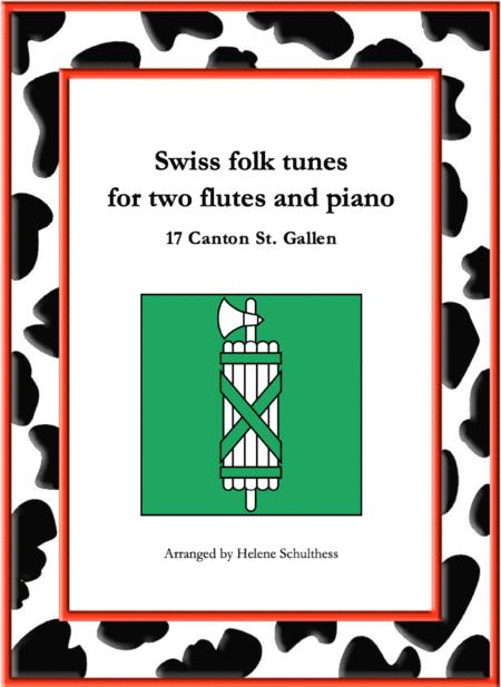 17 Swiss folk tune for two flutes and piano - Jupiter-Galopp - Canton St. Gallen