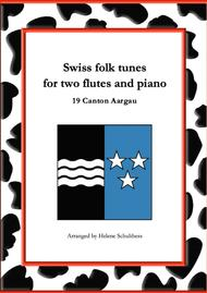 19 Swiss folk tune for two flutes and piano - Rosenwalzer - Canton Aargau
