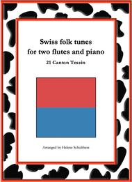 21 Swiss folk tune for two flutes and piano - Monferina - Canton Tessin
