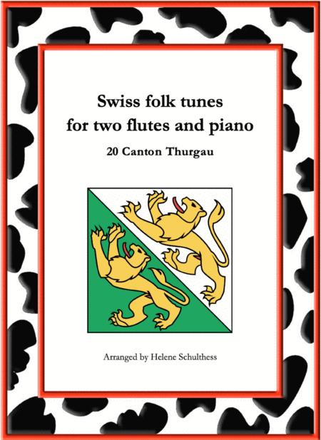 20 Swiss folk tune for two flutes and piano - Tannzapfenwalzer - Canton Thurgau