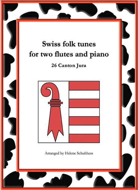 26 Swiss folk tune for two flutes and piano - Walzer - Canton Jura