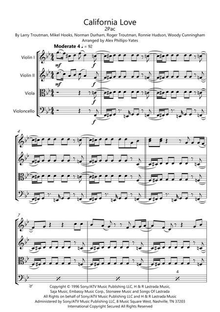 California Love by 2Pac (string quartet)