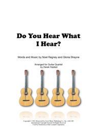 Do You Hear What I Hear - 4 guitars or large ensemble