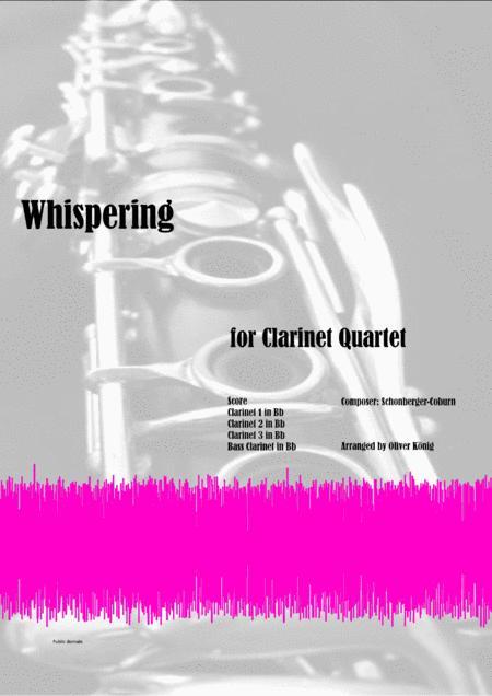 Whispering for Clarinet Quartet