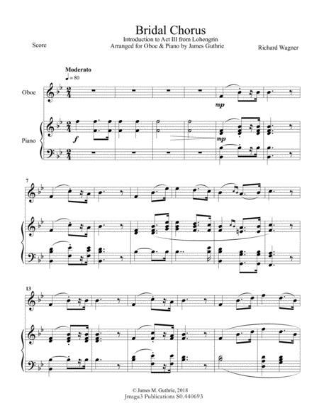 Wagner: Bridal Chorus for Oboe & Piano