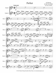 Download Perfect For Two Violins Sheet Music By Ed Sheeran