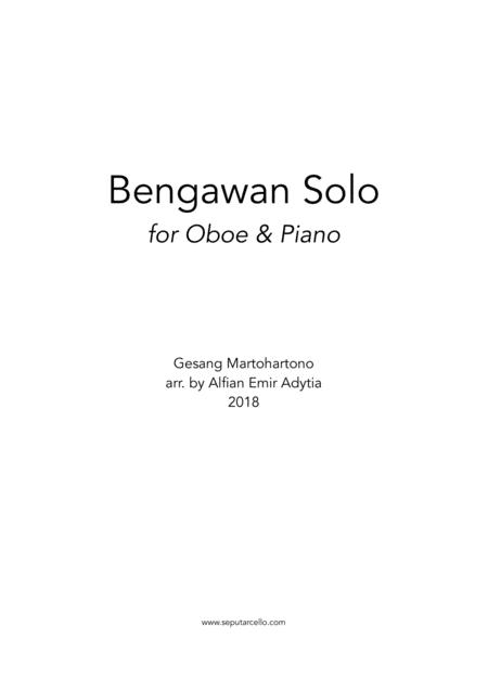 Bengawan Solo for Oboe & Piano