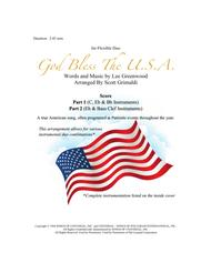 God Bless The U.S.A. - for Flexible Duo (C, Eb, Bb & Bass Clef Instruments)
