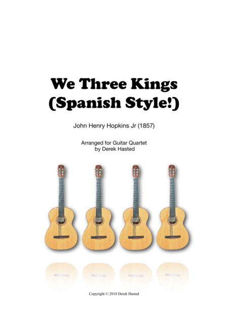 We Three Kings (Spanish Style!) - 4 guitars/large ensemble